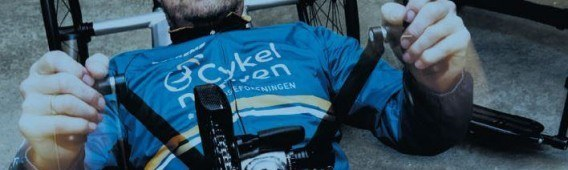 Henrik Kragh cycles for the Danish Sclerosis Association